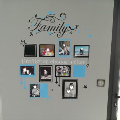 Sticker Family cadres photos