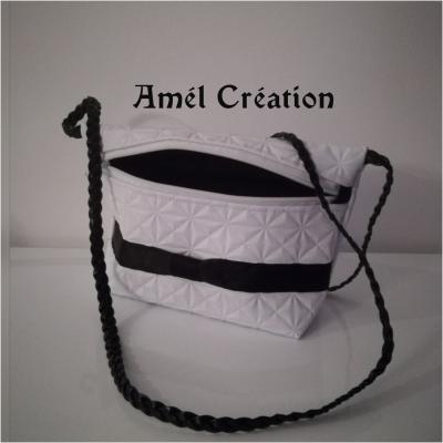 sac bandoulière - modèle blanc et noir