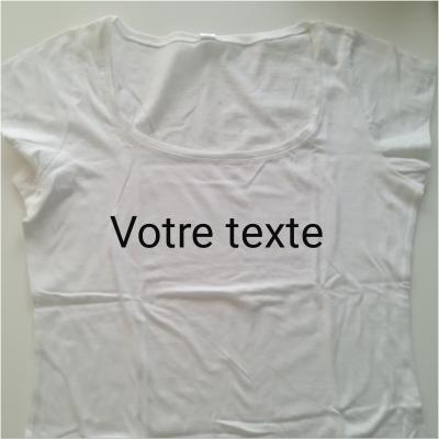 Tee shirt  femme blanc XL
