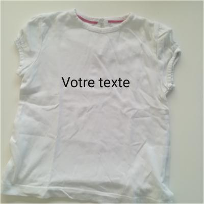 Tee shirt fille blanc 18mois