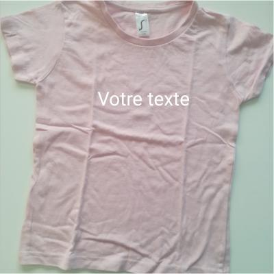 Tee shirt fille rose 8ans