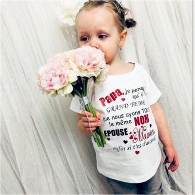 Tee shirt MC - PAPA/ MAMAN je pense qu'il est grand temps que nous ayons tous le meme NOM épouse maman/ papa...
