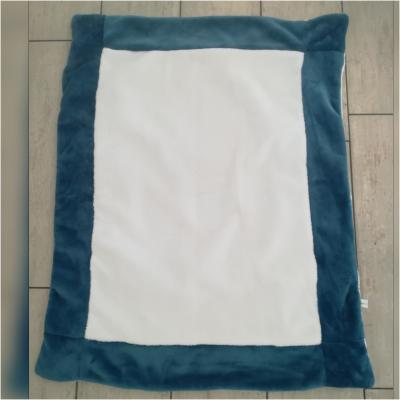 Couverture bleu et blanche à personnaliser - différentes coloris