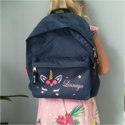 Mini sac à dos - modèle prénom et licorne