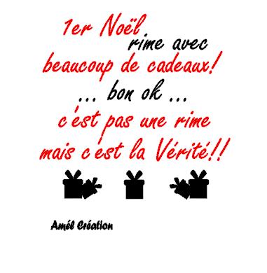 Tee shirt enfant MC -1er Noël rime ... (ou en version Noël)
