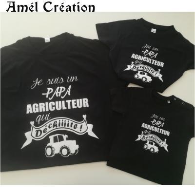Ensemble TEE SHIRT OU BODY -  Je suis un(e) ... AGRICULTEUR qui déchire -- J'ai un(e) ... agriculteur qui déchire