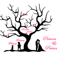 Arbre empreinte mariage 1