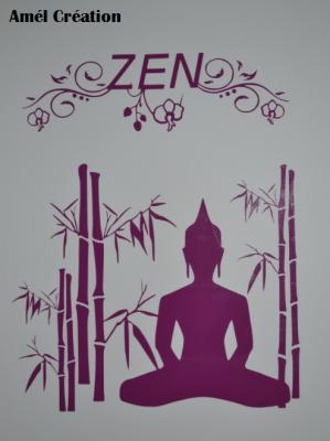 Sticker zen, bambou et bouddha