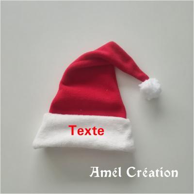 Bonnet de Noël - texte au choix - plusieurs tailles