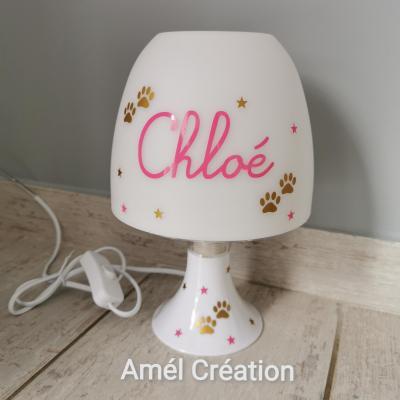 Lampe de chevet - modèle pattes de chat