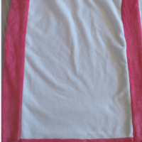 Couverture rose blanche