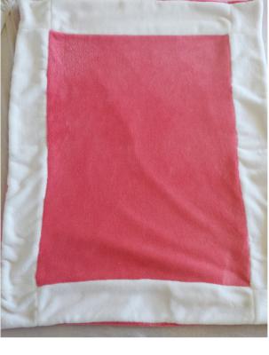 Couverture rose et blanche à personnaliser - différentes coloris