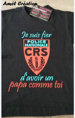 Tee shirt ML -  je suis fier(e) d'avoir un papa comme toi - CRS