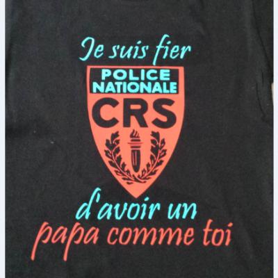 Tee shirt MC homme - je suis fier CRS