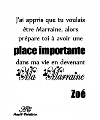 Tee shirt MC -  devenir marraine