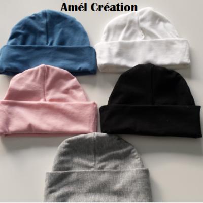 Bonnet à personnaliser - FAIT MAIN - couleur au choix