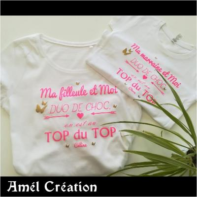 Ensemble TEE SHIRT OU BODY - duo de choc