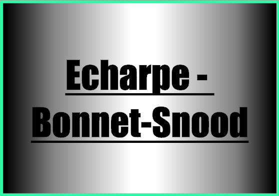 Echarpe bonnet snood