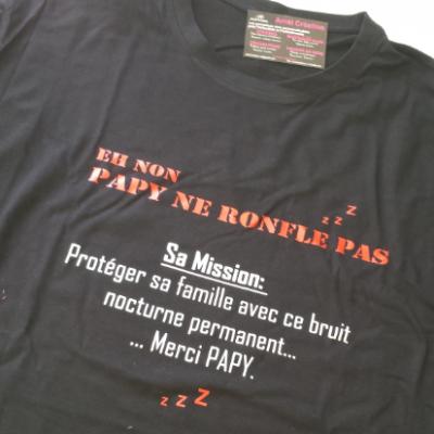 Tee shirt MC homme - eh non ... ne ronfle pas