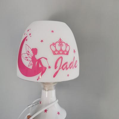 Lampe de chevet - modèle fée et couronne