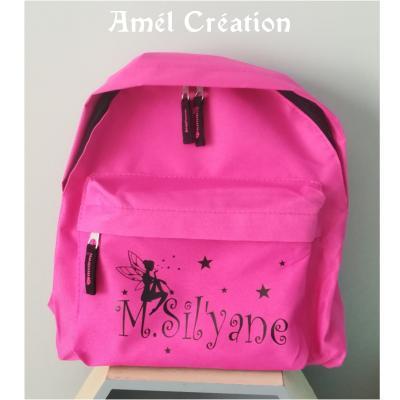 Mini sac à dos - modèle fée étoiles et prénom