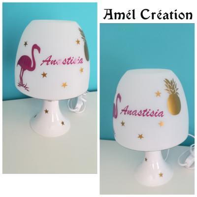 Lampe de chevet - modèle flamant rose et ananas
