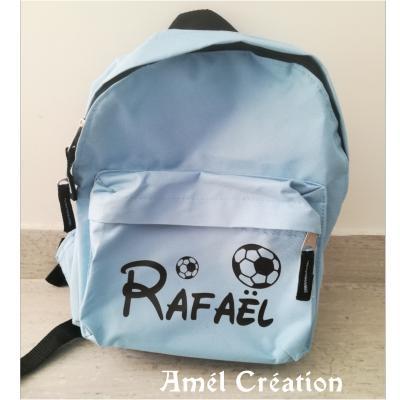 Mini sac à dos - modèle prénom et ballon foot