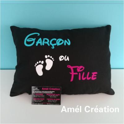 Coussin coton  - Garçon ou fille - 40x40 ou 35x25