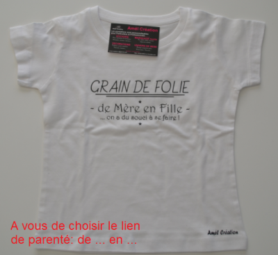 Tee shirt enfant MC - Grain de folie