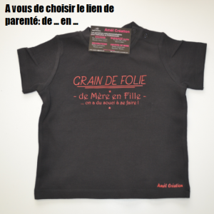 Grain de folie noir rouge