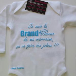 Grand amour marraine blanc bleu