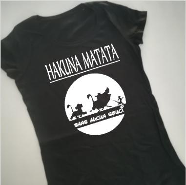 Tee shirt MC femme - hakuna matata