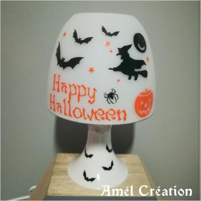 Lampe de chevet - Modèle Halloween citrouille