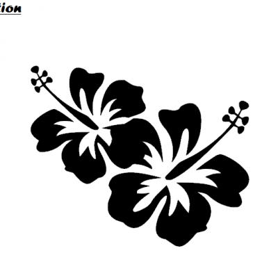 Stickers hibiscus double