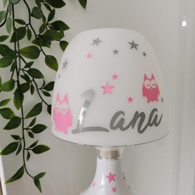 Lampe de chevet - modèle hiboux et étoiles
