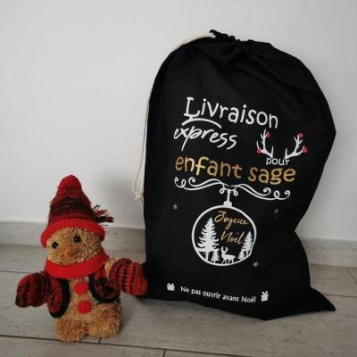Hotte de Noël XL - Livraison express pour + boule de noel