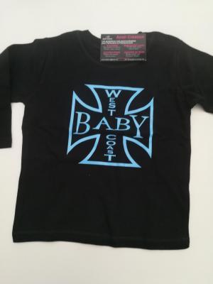 Tee shirt bébé noir Manche Longue 18-24mois