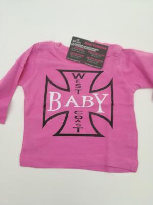 Tee shirt bébé rose Manche Longue 3-6mois