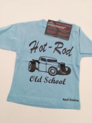 Tee shirt bleu 6mois
