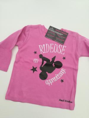 Tee shirt bébé rose Manche Longue 6-12mois