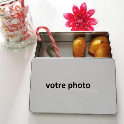 la boîte en métal rectangle - photo