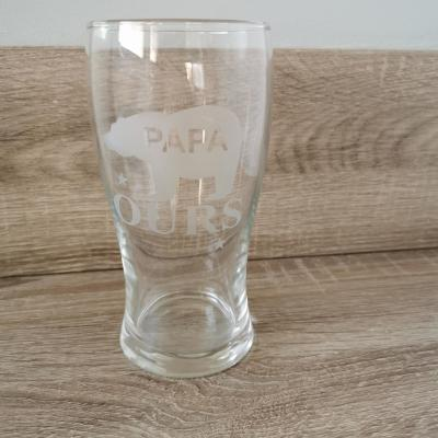 Verre papa ours