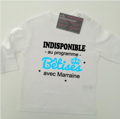 Tee shirt ML - indisponible bêtises avec ....