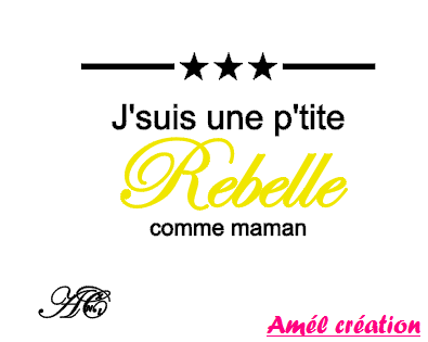 Tee shirt MC - J'suis un(e) p'tit(e) rebelle comme ...