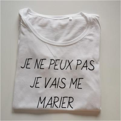 Tee shirt MC femme - je peux pas je vais me marier