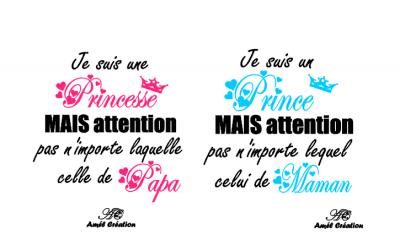 Tee shirt MC - je suis un(e) Prince(sse) mais attention pas n'importe lequel (laquelle) celle de ....