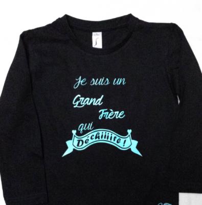 Tee shirt ML - Je suis un grand frère qui dechire