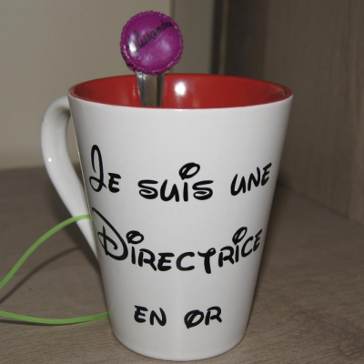 Sticker pour mug Je suis une directrice en or