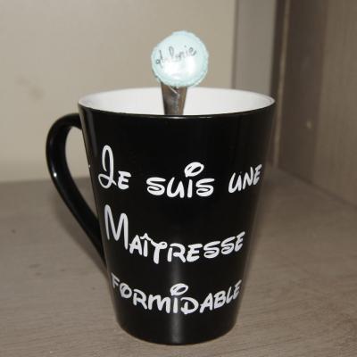 Stickers pour mug Je suis une maîtresse formidable