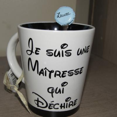 Stickers pour mug Je suis une maîtresse qui déchire
